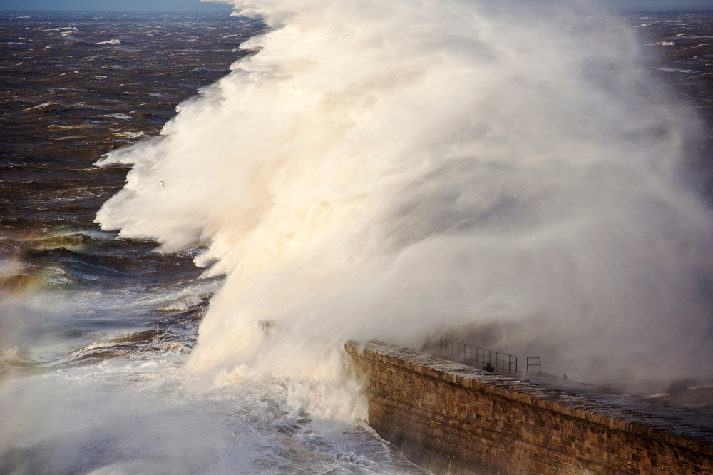 Whitehaven, Cumbria, global warming, extreme storm warnings