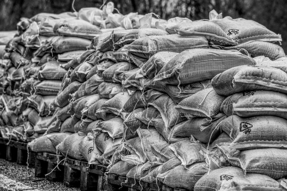 Sandbags Cockermouth Floods