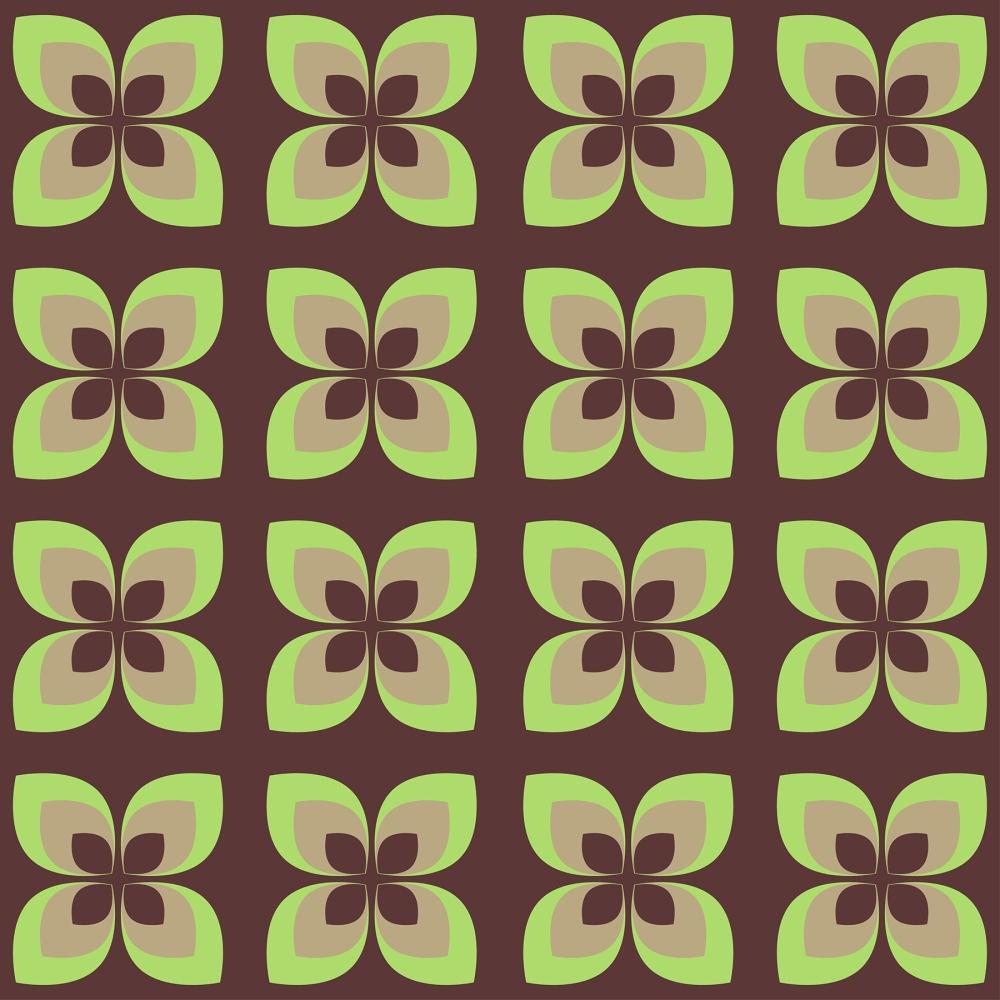1970s flower textile